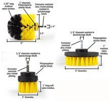 סט 3 מברשות ניקיון מקצועיות המתברגות על כל מברגה חשמלית