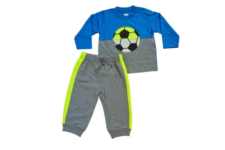 חליפת מעבר כדורגל כחול-אפור מלאנג' מכנס פרנצ׳ טרי