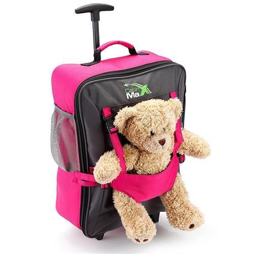 טרולי ותיק גב עליה למטוס 50x34x20 CABIN MAX Bear Pink  (ללא הדובי)