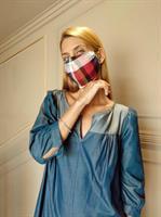 שמלת מקסי DENIM + מסכת PLACED מתנה