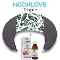 Tropic MoonLove כרית הריון והנקה + שמן שקדים ללידה MommyCare