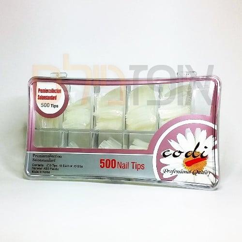 קופסא לציפורניים + טיפסים (500 יחידות)