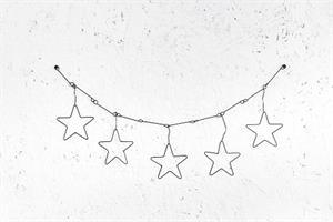 שרשרת לקיר מחוט ברזל - 5 כוכבים