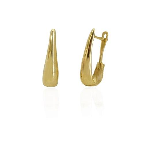עגילי חישוק זהב קטנים א סימטרים