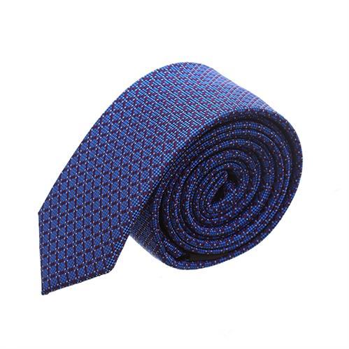 עניבה קלאסית מרובעים כחול רויאל