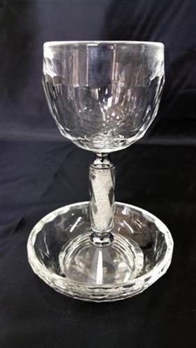גביע יין דגם רסיסים מסולסל
