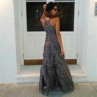 שמלת טינקרבל משי שחור לבן