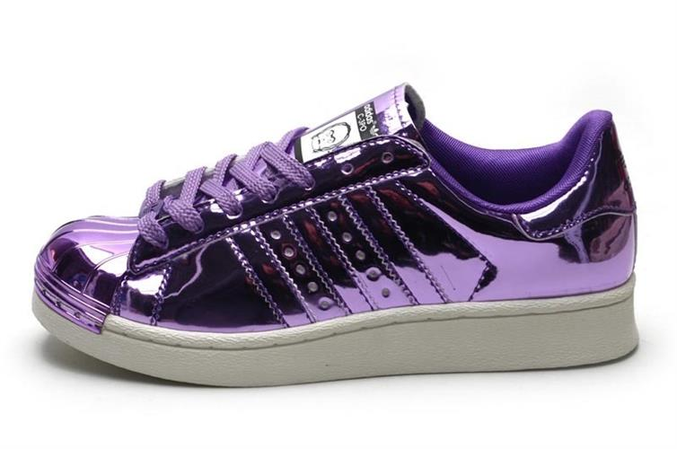 נעלי adidas superstar 80s bling metal toe יוניסקס מעוצבות מידות 36-44 purple bling