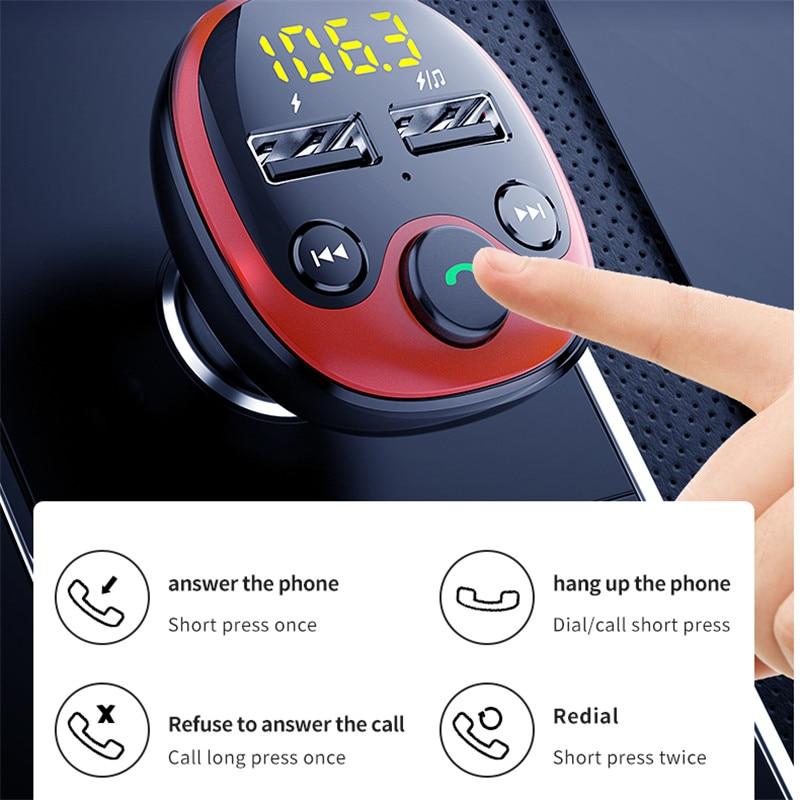 משדר fm לרכב+דיבורית+בלוטוס