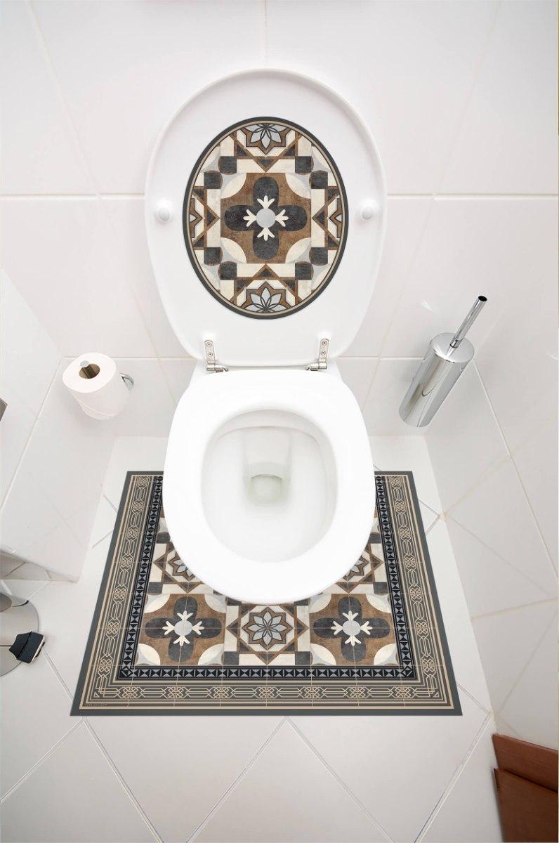 עיצוב איזור האסלה – מדבקה (39 ₪) שטיחון (88 ₪) סט (119 ₪) טמפלר TIVA DESIGN