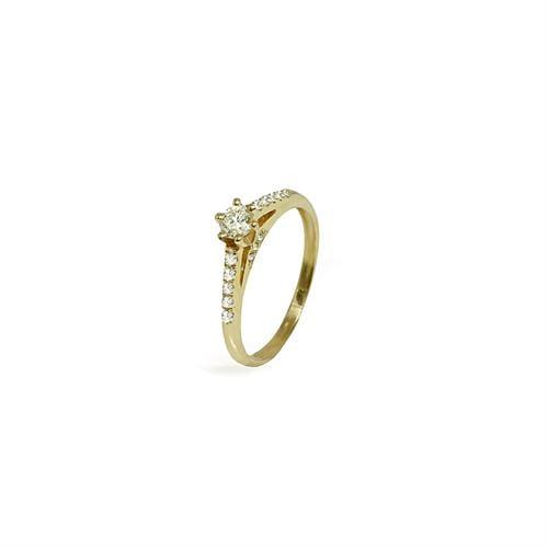 טבעת אירוסין זהב 0.42 קראט