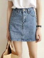 חצאית ג'ינס כחולה