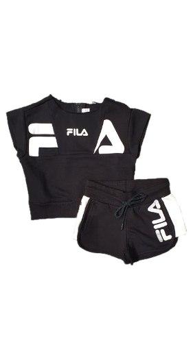 חליפת שורט וגופיה שחור (FILA (6-16