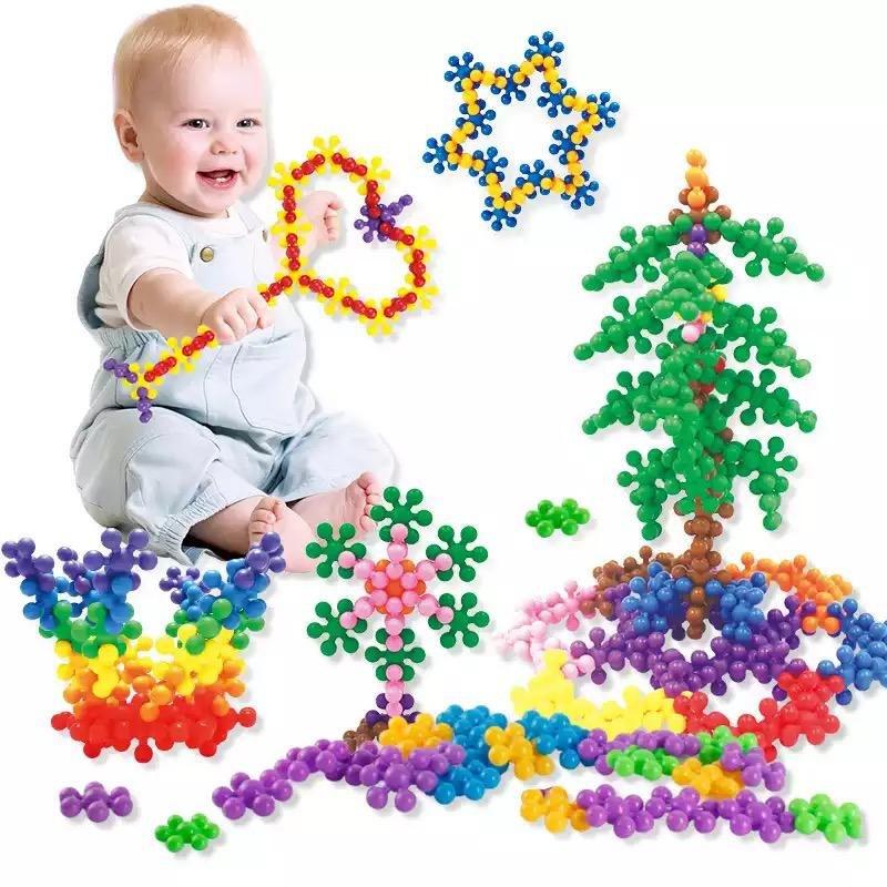 77 כדורי פלסטיק לבניית צורות שונות