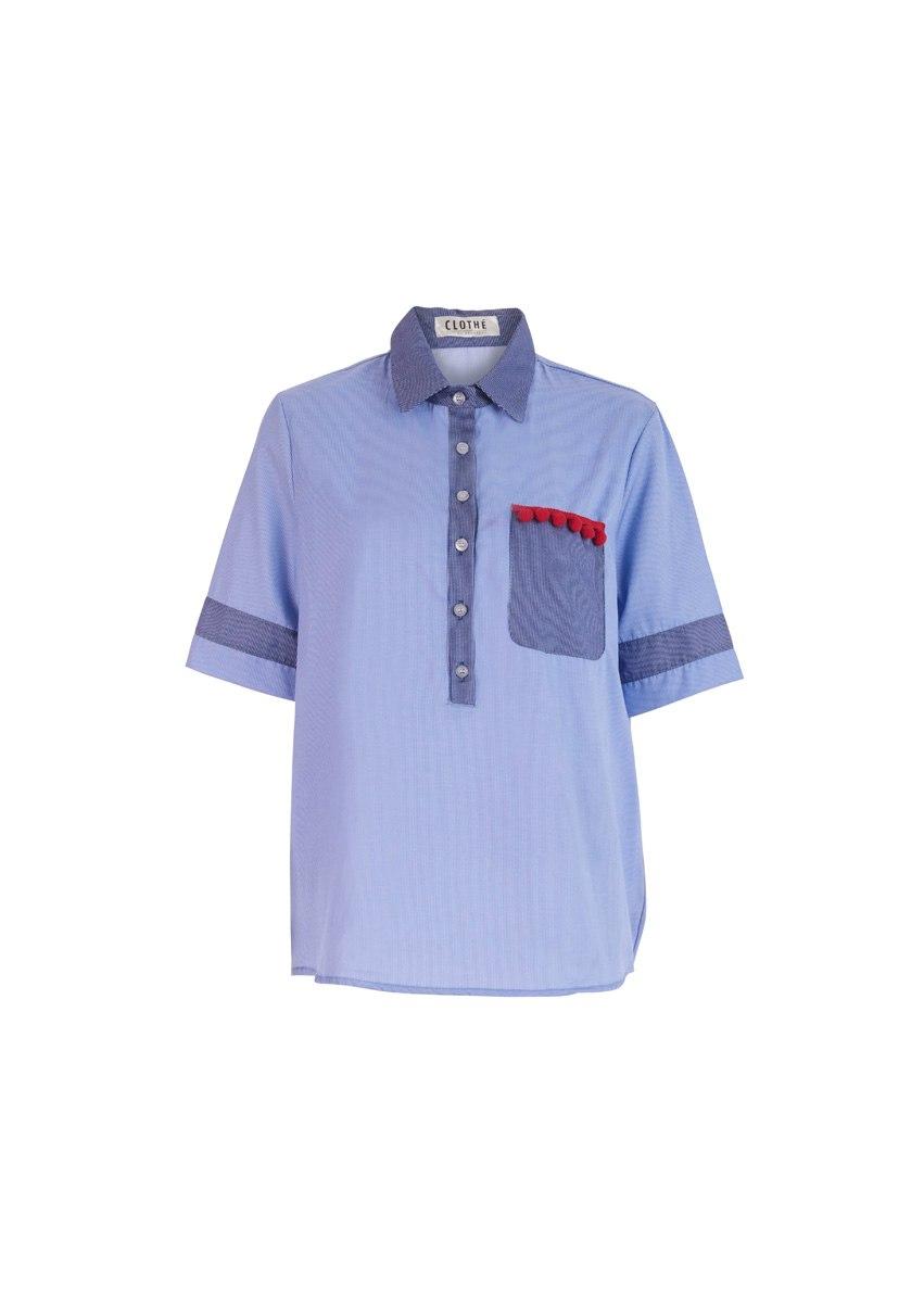 חולצת אל כחולה