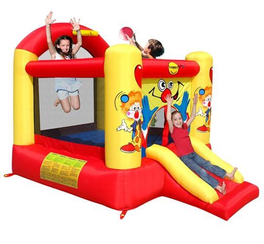 מתקן קפיצה ליצן עם מגלשה הפי הופ - 9304  Clown Slide And Hoop Bouncer Happy Hop