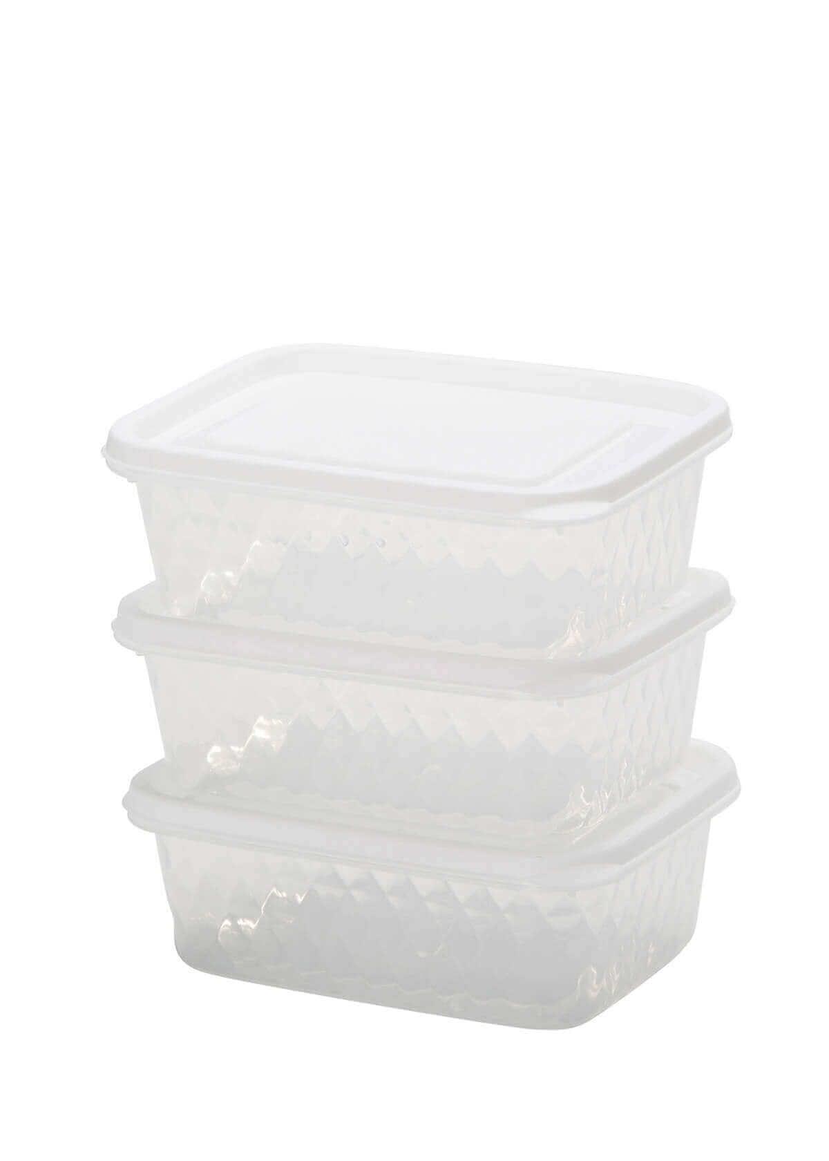 שלישית קופסאות פלסטיק בינוניות