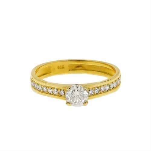 0.70 קראט טבעת יהלומים זהב לבן | טבעת אירוסין