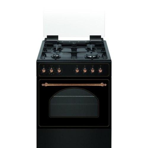 """תנור אפיה 60 ס""""מ שחור כפרי משולב 6 תכניות Normande  NR6060ANT"""