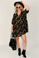 שמלת אוברסיז טיילור  שחורה