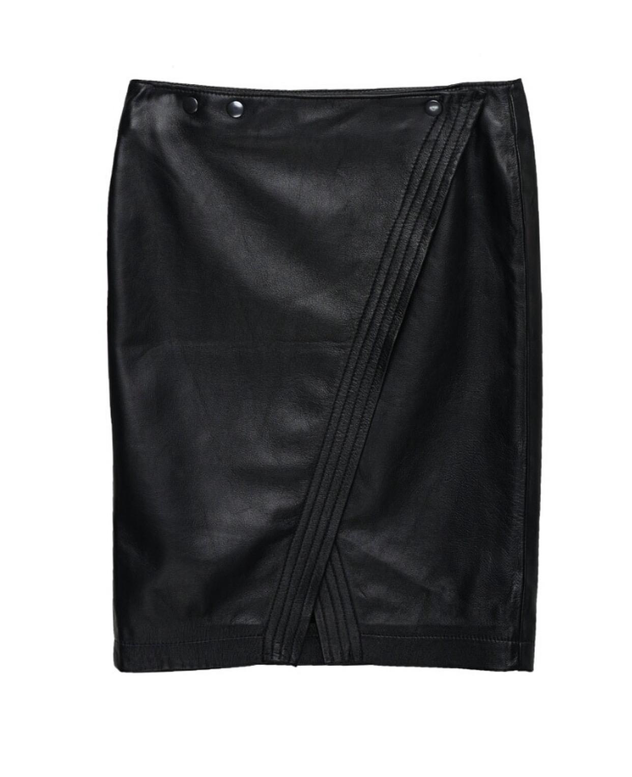 חצאית עור מילי שחור