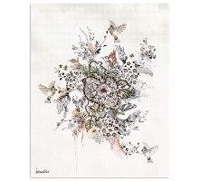 ציור של פרחים וציפורים - אומנות לבית