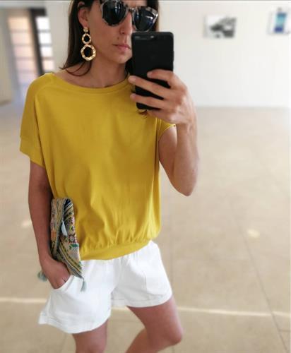 חולצת מישל - צהובה