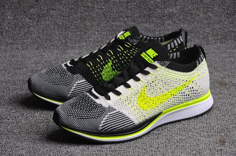 נעלי Nike Flyknit Racer בגימור Black White YELLOWמידות 36-44