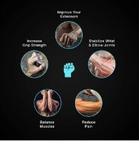 זוג גומיות התנגדות לאצבעות הידיים