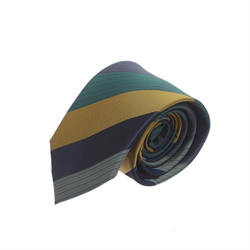 עניבה פסים רחבים צהוב