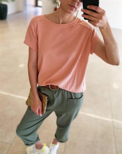 חולצת מישל - ורודה