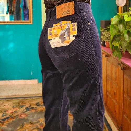 מכנסי קורדורוי כחולים מושלמים מידה L