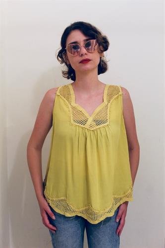 חולצת ניל קרושה צהוב