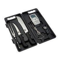 ערכת גילוף - סכינים וטרמומטר מבית בראדלי סמוקרס