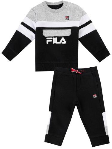 חליפת פוטר בנים שחור/אפור/לבן FILA - מידות 6 עד 24 חודשים