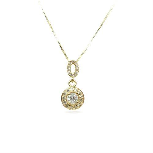 שרשרת זהב 14 קאראט ויהלומים מעוצבת