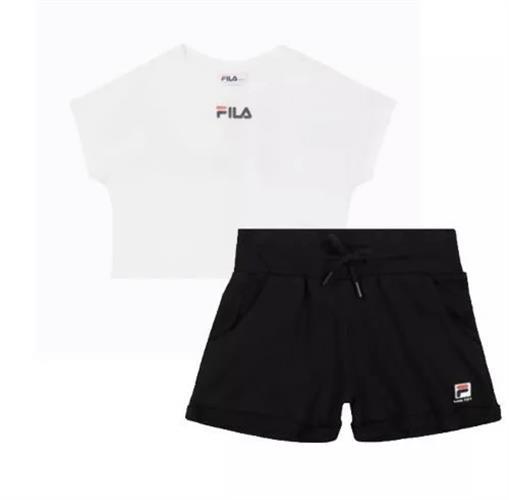 חליפה קצרה לבנה עם מכנס שחור FILA