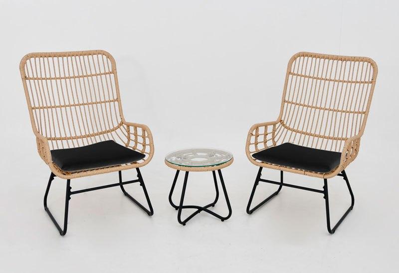 סלון גינה הכולל 2 כורסאות ושולחן