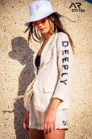 חליפה פשתן DEEPLY בז' ANTIGO