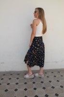 חצאית מעטפת נייבי פרחים