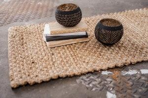 כלי מקליפת קוקוס - דגם עלים