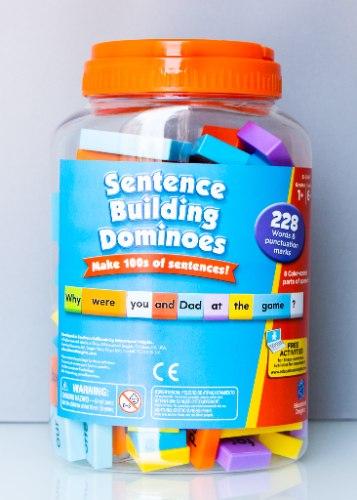 דומינו - בונים משפטים באנגלית | Sentence Building Dominoes