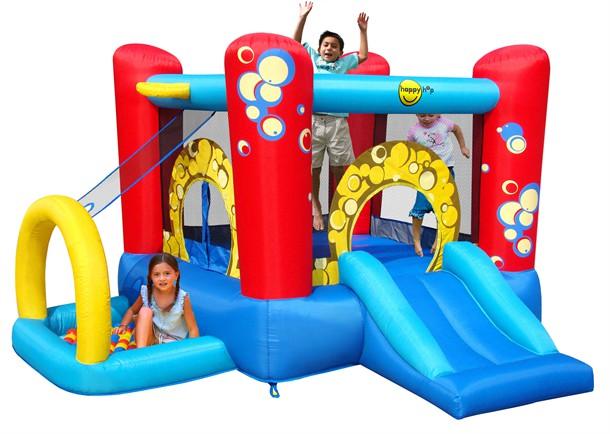 מתקן קפיצה בועות 4 התחנות הפי הופ - 9214 -   Bubble 4in1 Play Center Happy Hop