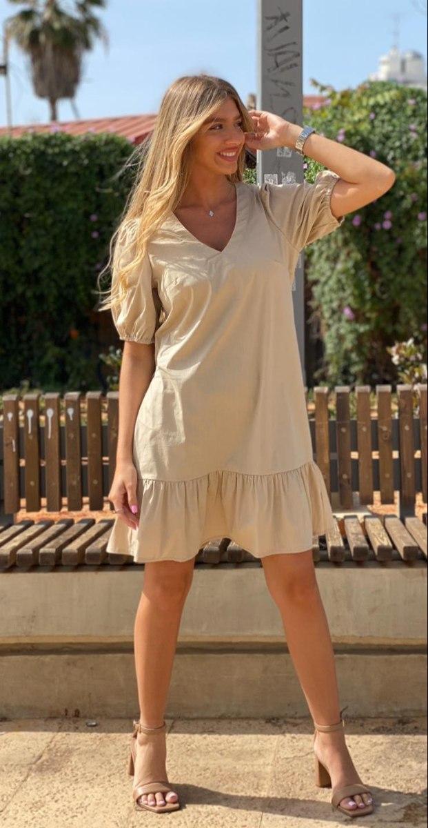 שמלת מוניק בז' THOMAS
