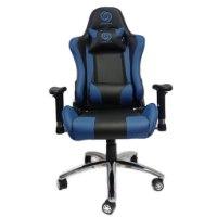 כיסא גיימינג דגם נובה - Nova - איכותי מעוצב ונוח עם משענת מתכווננת בצבעים שחור וכחול