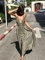 שמלת אנג'ל ירוק זית