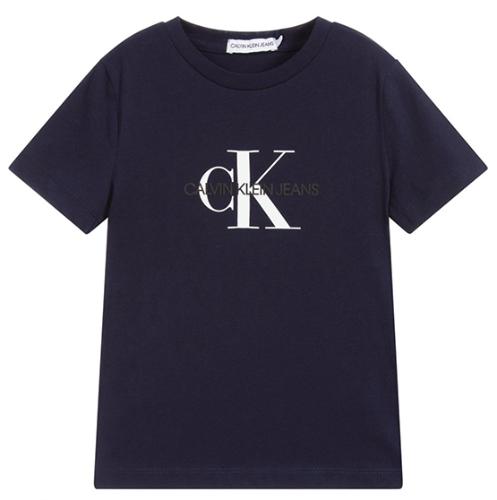 טי-שירט כחולה בייסיק - Calvin Klein - מידות 4 עד 16 שנים