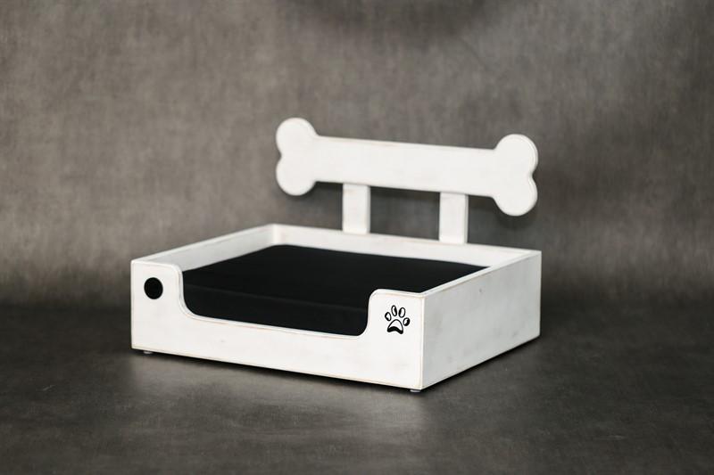 מיטה לכלב- בונזי XS לבן ווש