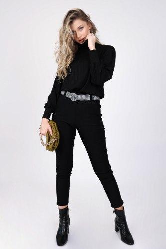 מכנס מייגן  שחור