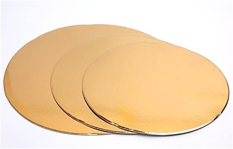 """תחתית זהב קרטון בגדלים 16 - 30 ס""""מ (קוטר)"""